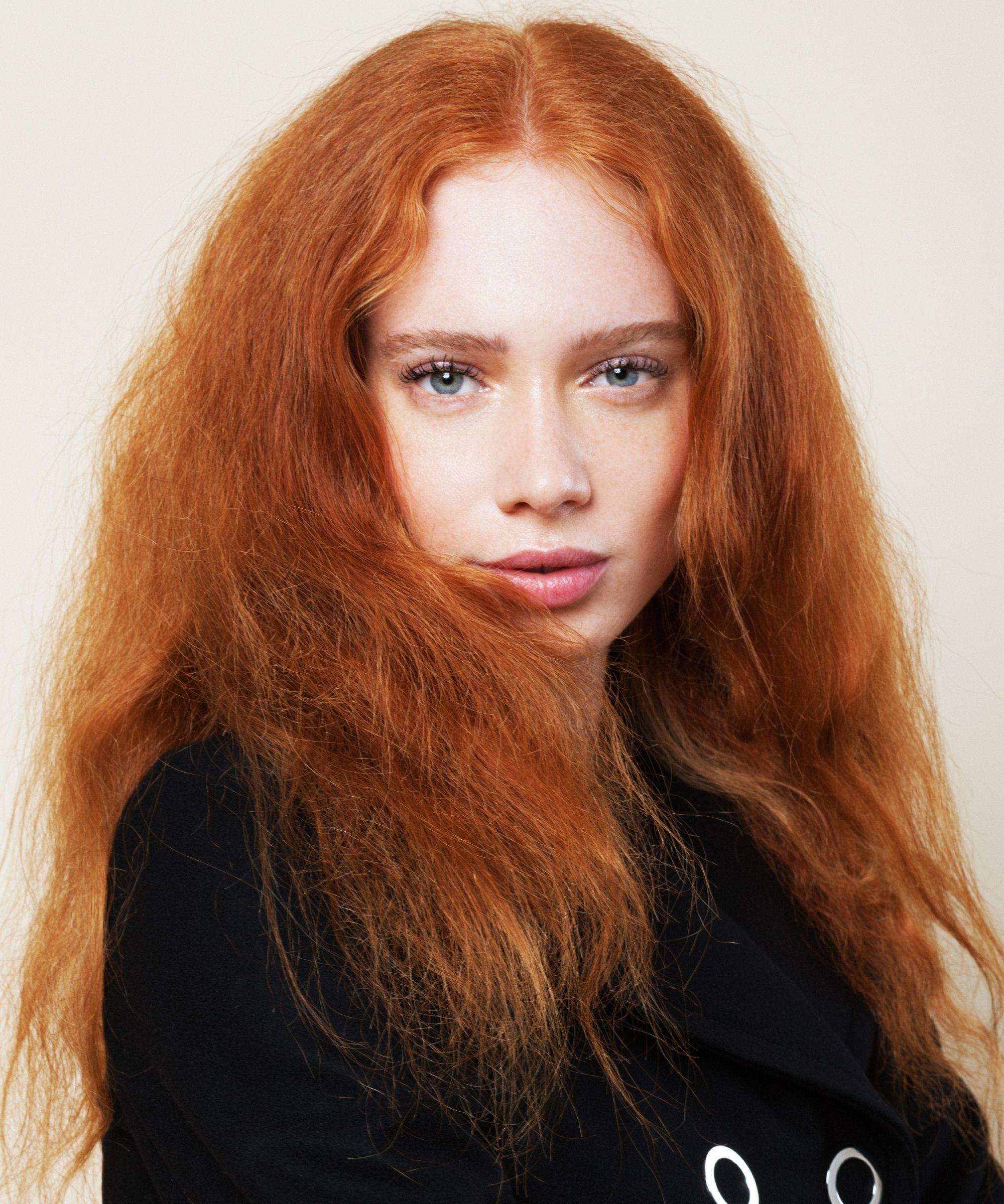 Haare augen rote sommersprossen blaue Rote Haarfarbe
